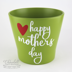 flower pot | large | happy mothers day | READY TO SHIP