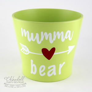 flower pot | large | mumma bear | READY TO SHIP