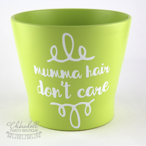 flower pot | large | mumma hair don't care | READY TO SHIP
