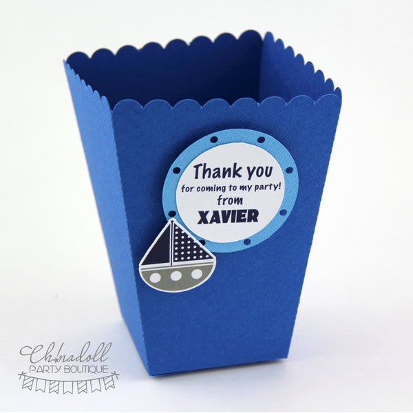 sail away nautical party favour boxes