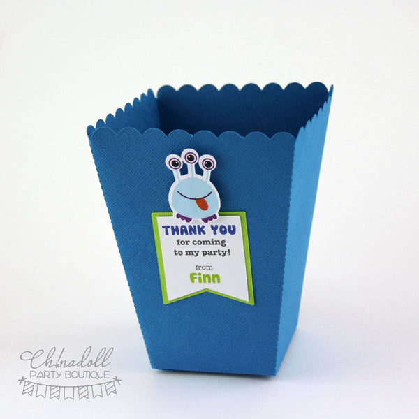 little monsters party favour boxes