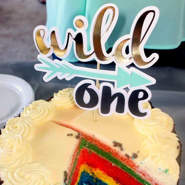 wild one cake topper | first birthday | tribal