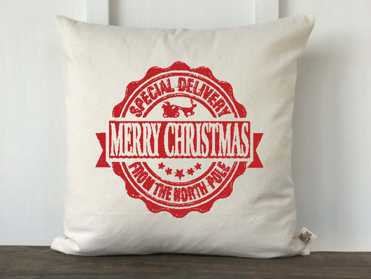 Special Delivery Postmark Pillow Cover - Returning Grace Designs