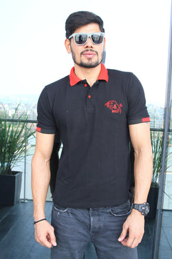 Embroidered Bull Polo | Bengaluru Bulls T-Shirt | GalaxT