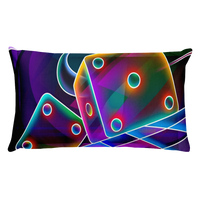 Colorful Dices Rectangular Pillow