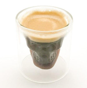 Buy 2.75 oz double wall skull espresso glass