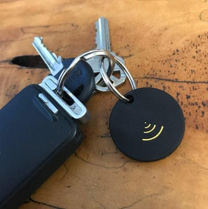 Our FIND IT Bluetooth 2-Way Locator easily attaches to a keychain