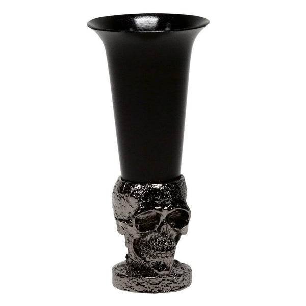 defiance tools metal black skull shot glass