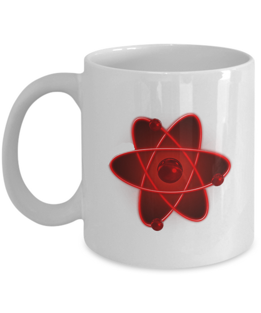 Nuclear Atom Design red - Coffee Mug - Uncle Seal