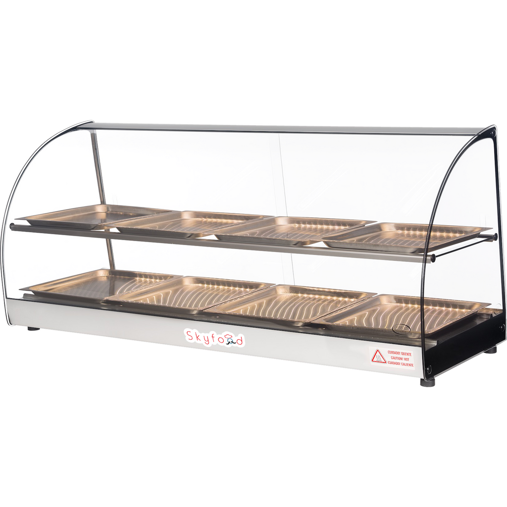 "Commercial Countertop Food Warmer Display Case 44"" - AT Faucet Bar & Restaurant Equipment New Jersey"