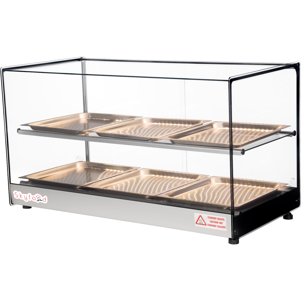 "Commercial Countertop Food Warmer Display Case 33"" with 6 Trays - AT Faucet Bar & Restaurant Equipment New Jersey"