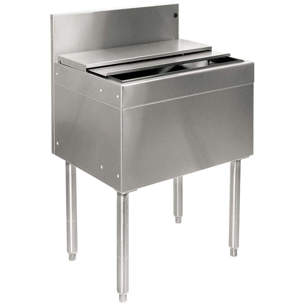 "Glastender Stainless Steel Commercial Back Bar Ice Bin 18"" with Lid - AT Faucet"