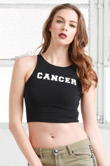 cancer cotton crop top tee shirt from love by luna