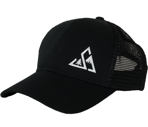 Seek Dry Goods Eco Trucker Hat Lefty Black