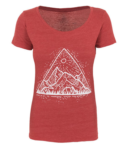 "Women's Seek Dry Goods ""Mountain View"" T-shirt"