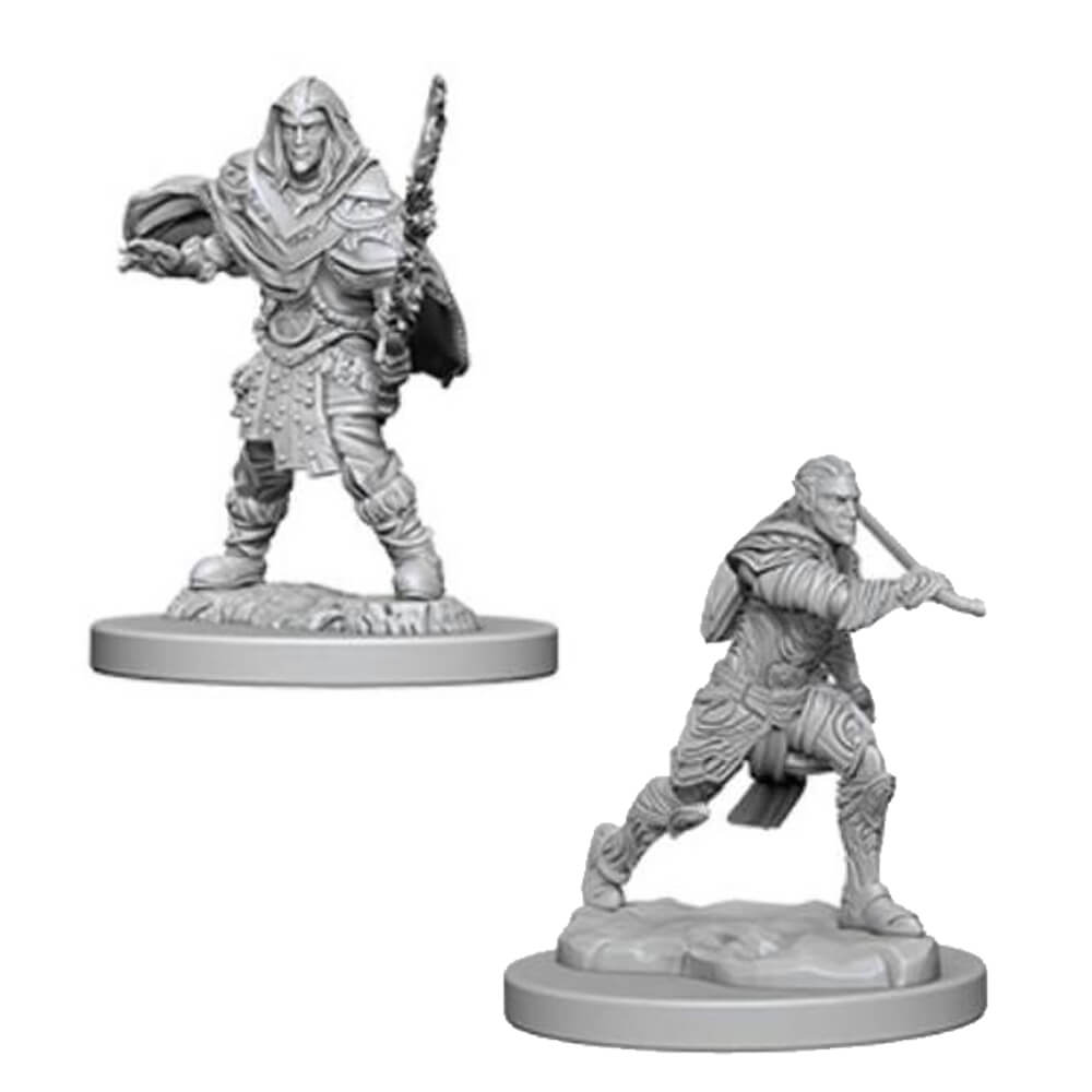 Nolzur's Marvelous Unpainted Minis - Male Elf Fighter - Imaginary Adventures
