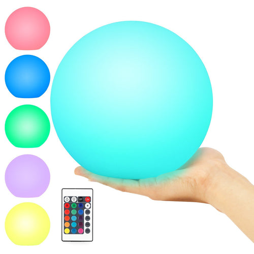 Floating Pool Light, Kohree Light Up Swimming Pool Ball Light for Inground and Above Pool with Wireless Remote, 6 Inch, 16 Colors Rechargeable Floating Orb Light