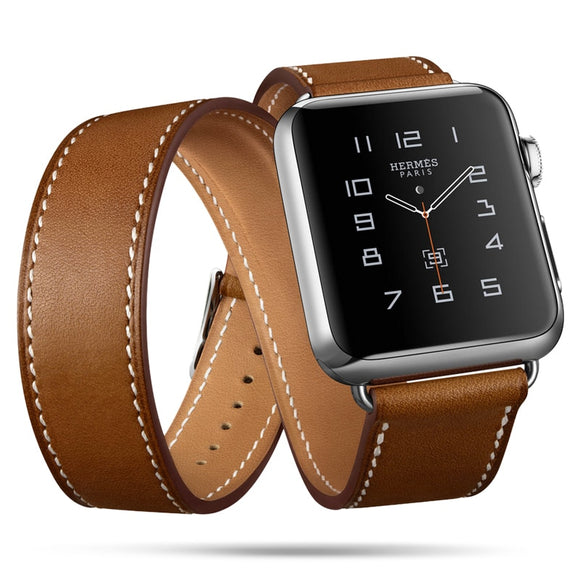 Double Loop Designer Leather Band