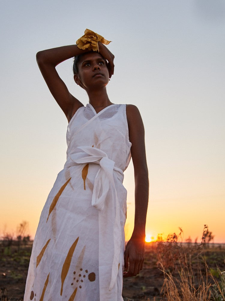 Fitzroy Crossing model, Shaniqua Shaw, takes on Melbourne Fashion Festival