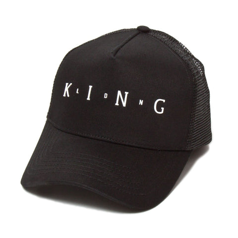 King Apparel Aldgate Mesh Trucker Cap - Black