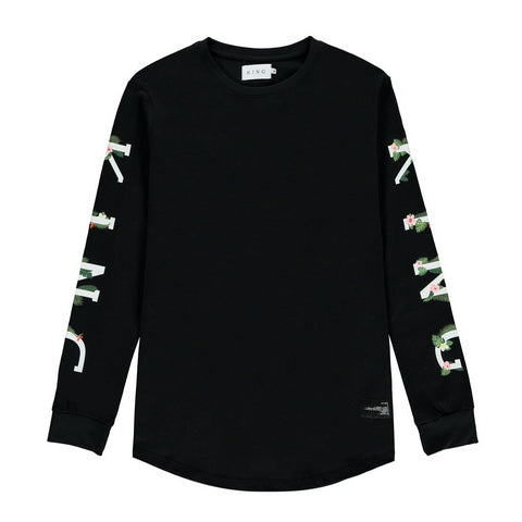 King Apparel Stepney Long Sleeve T-Shirt - Black