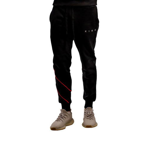 King Apparel Tennyson Tracksuit Joggers - Black