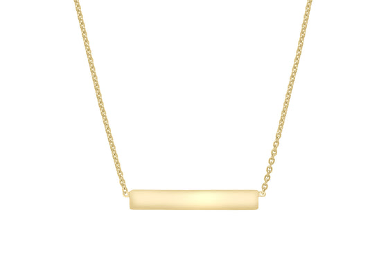 9ct Yellow Gold Bar Necklace