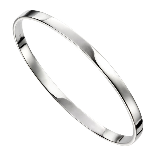 Sterling Silver Solid Flat Bangle