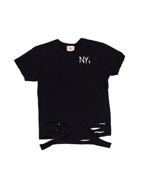 NY Spray Paint Distressed Tee