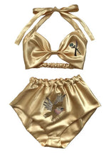 Spread Eagle Embroidered Satin Set