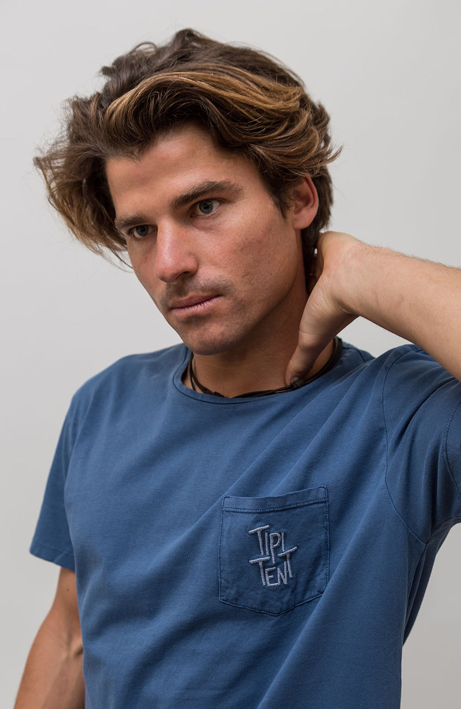 Camiseta Pocket Azul