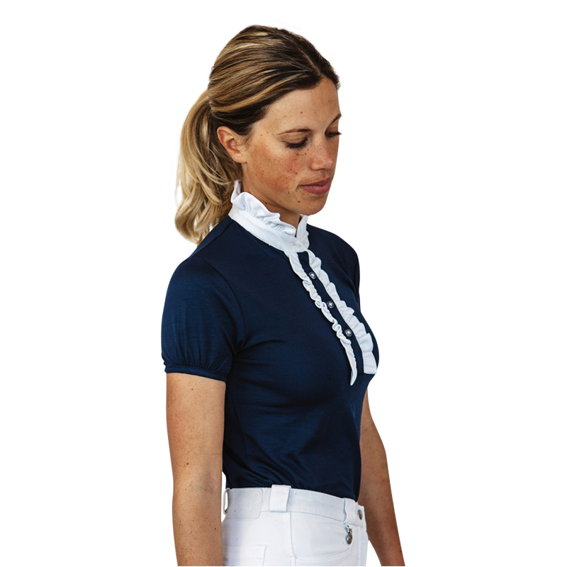 Ladies Parkway Ruffle Competition Show Shirt by Hardy Etc