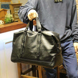 Mens Leather Travel Bag