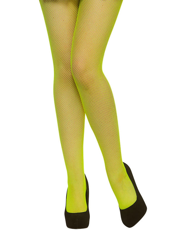 Tights, Fishnet, Neon Green