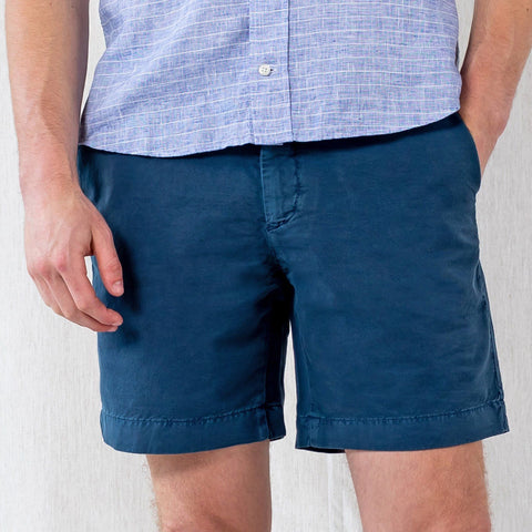 The Airforce Blue Richmond Washed Twill Short