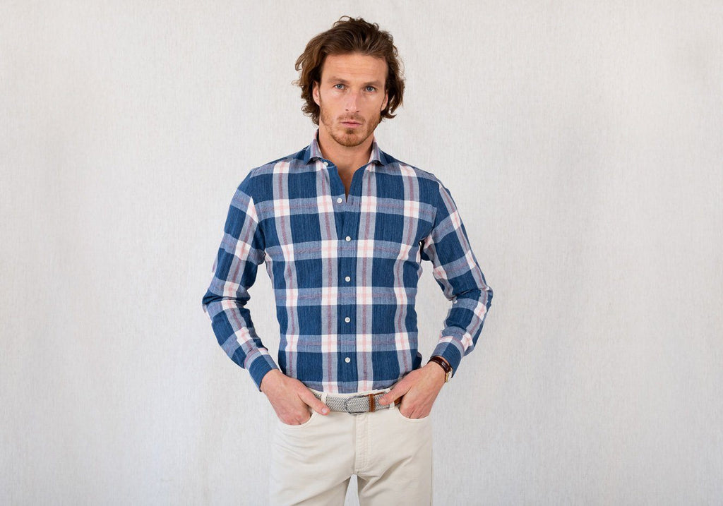 The Cadet Blue Rawls Plaid Casual Shirt