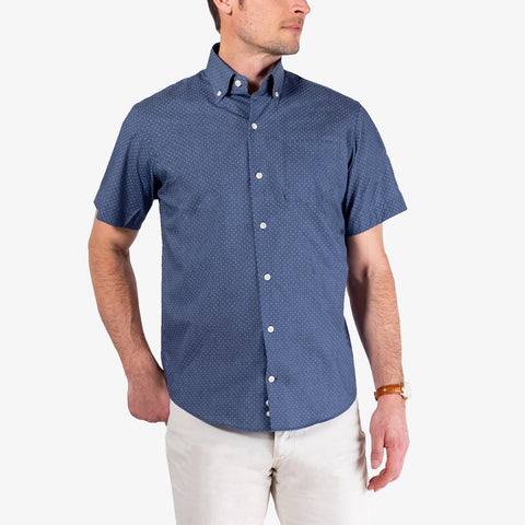 The Short Sleeve Jasper Dot Print Casual Shirt