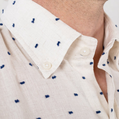 The Oatmeal Linden Fil Coupe Casual Shirt