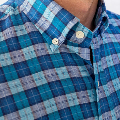 The Aqua Seabrooke Plaid Casual Shirt