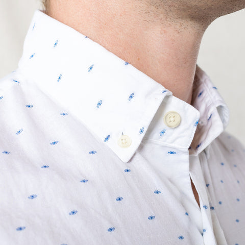 The Blue Allenhurst Dot Casual Shirt