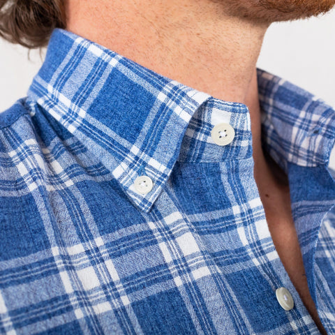 The Deep Blue Brompton Plaid Casual Shirt