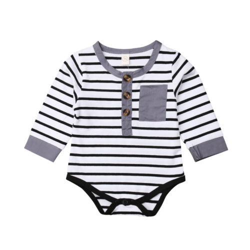 'Oscar' Striped Onesie