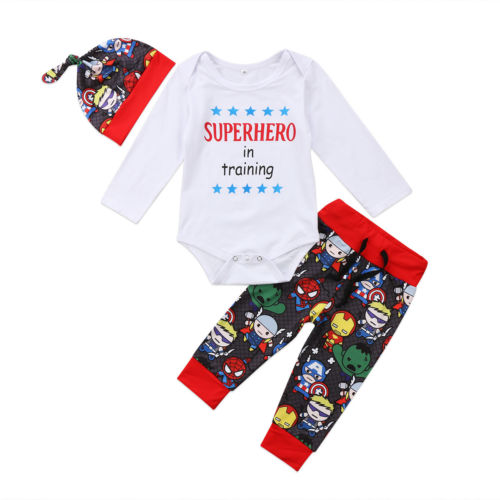 'Superhero in Training' Outfit with Beanie