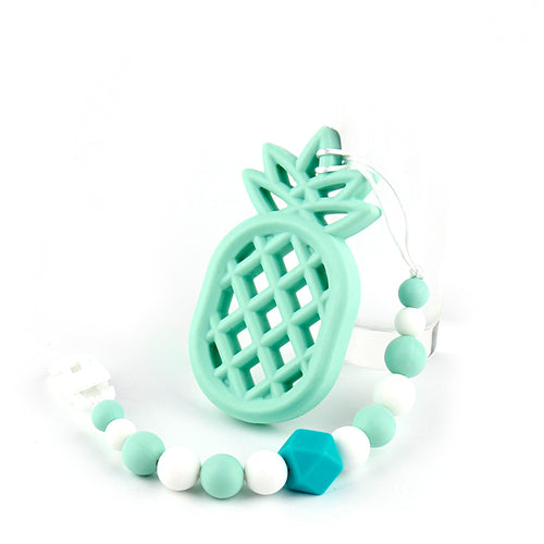 Pineapple Silicone Teether with Bead Chain