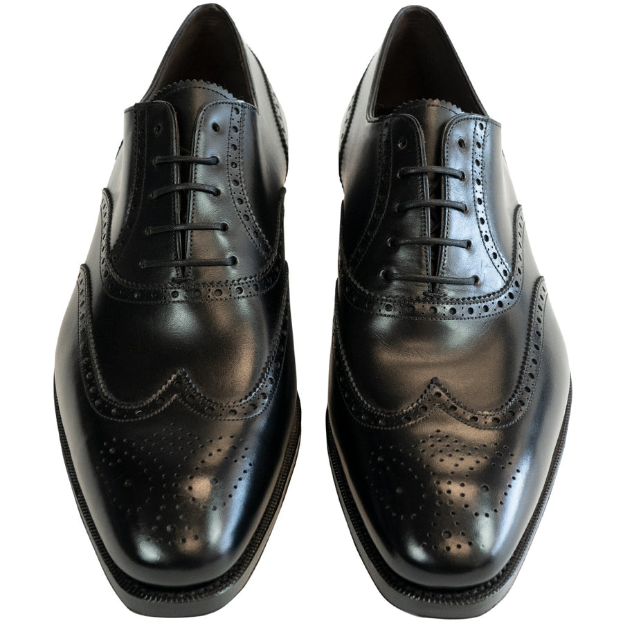 Carmina Black Wingtip - 922