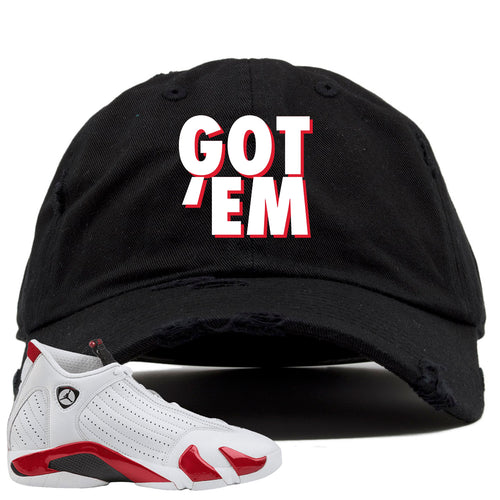 Jordan 14 Rip Hamilton Got 'Em Black Distressed Dad Hat
