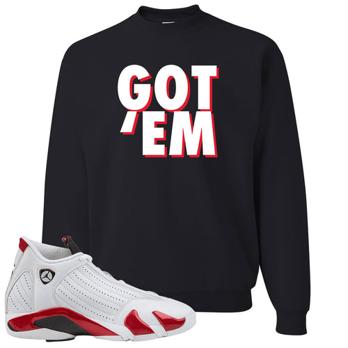Jordan 14 Rip Hamilton Got 'Em Black Crewneck Sweater