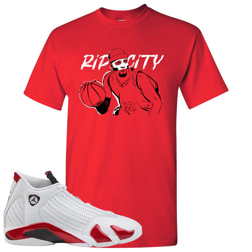 "Jordan 14 Rip Hamilton Richard Clay ""Rip"" Hamilton Red T-Shirt"