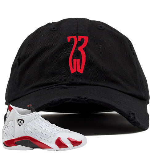 Jordan 14 Rip Hamilton 23 Black Distressed Dad Hat
