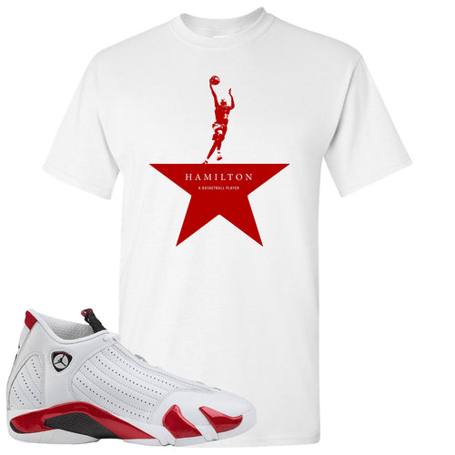 Jordan 14 Rip Hamilton Basketball Star White T-Shirt